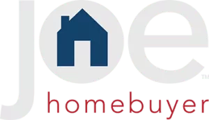 grey logo with blue house